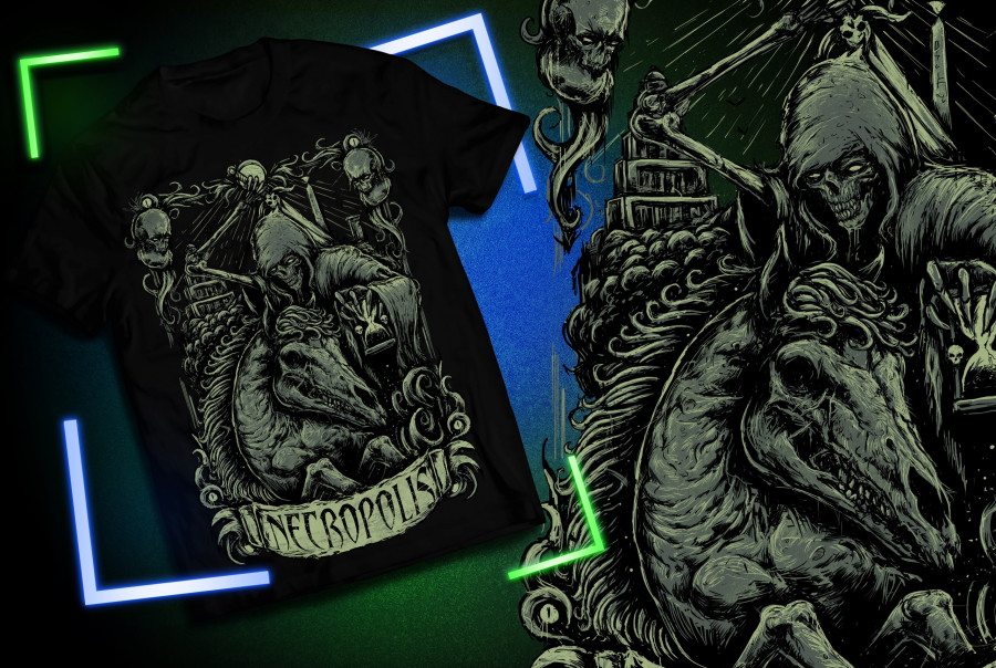 "Футболка на хлопке ""Necropolis"" Limited Edition"